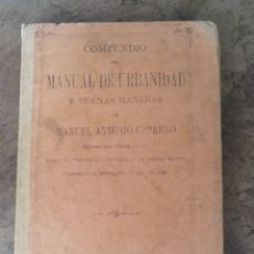 Libros antiguos: COMPENDIO DEL MANUAL DE URBANIDAD Y BUENAS MANERAS CARREÑO 1900. Lote 170911484