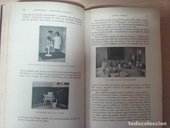 Libros antiguos: EL MÉTODO DE LA PEDAGOGÍA CIENTÍFICA (1937) - DOCTORA MARI MONTESSORIO - Foto 4 - 174025595