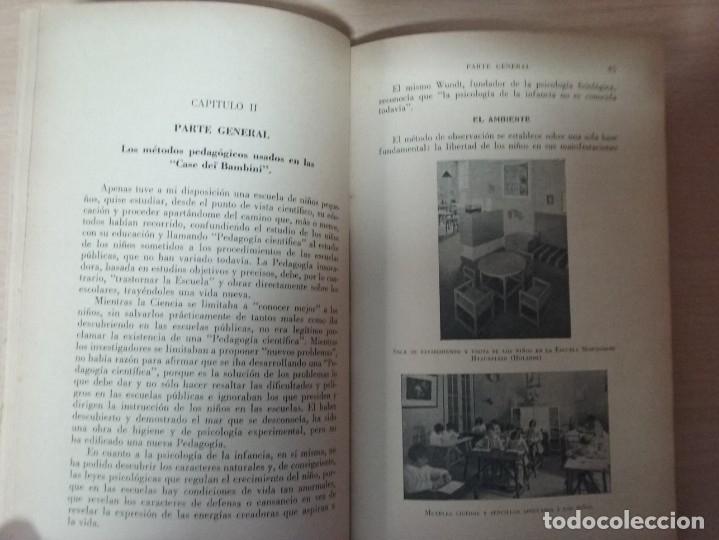 Libros antiguos: EL MÉTODO DE LA PEDAGOGÍA CIENTÍFICA (1937) - DOCTORA MARI MONTESSORIO - Foto 5 - 174025595