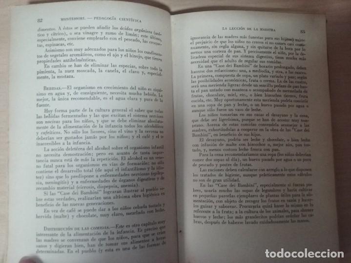Libros antiguos: EL MÉTODO DE LA PEDAGOGÍA CIENTÍFICA (1937) - DOCTORA MARI MONTESSORIO - Foto 6 - 174025595