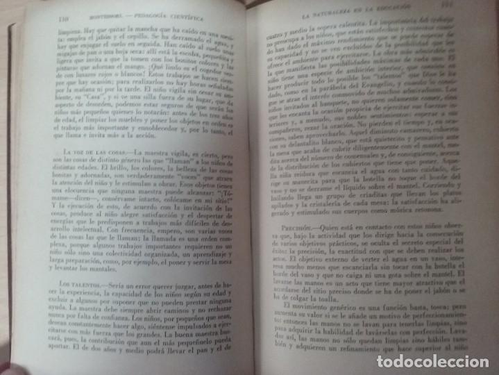 Libros antiguos: EL MÉTODO DE LA PEDAGOGÍA CIENTÍFICA (1937) - DOCTORA MARI MONTESSORIO - Foto 8 - 174025595