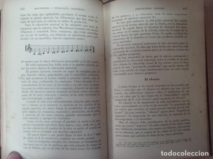 Libros antiguos: EL MÉTODO DE LA PEDAGOGÍA CIENTÍFICA (1937) - DOCTORA MARI MONTESSORIO - Foto 10 - 174025595