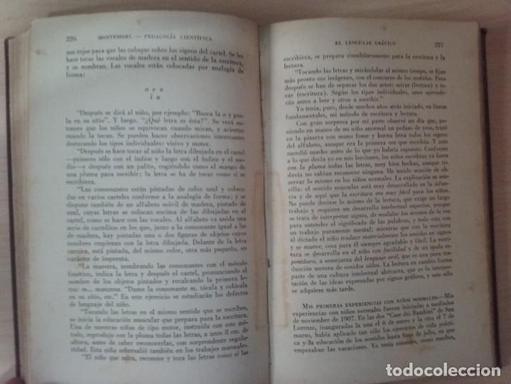 Libros antiguos: EL MÉTODO DE LA PEDAGOGÍA CIENTÍFICA (1937) - DOCTORA MARI MONTESSORIO - Foto 11 - 174025595