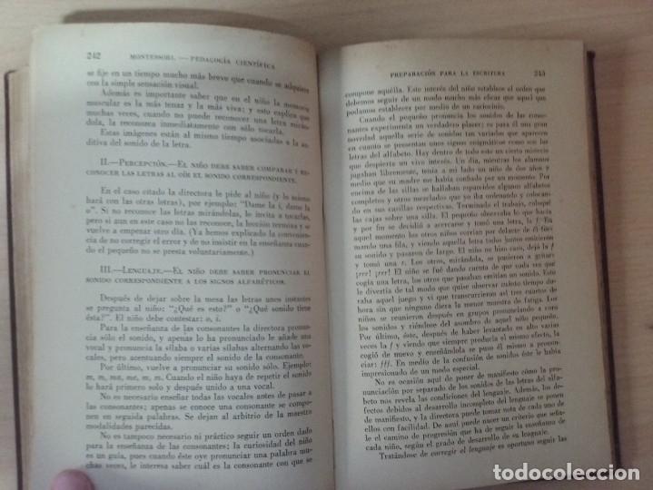 Libros antiguos: EL MÉTODO DE LA PEDAGOGÍA CIENTÍFICA (1937) - DOCTORA MARI MONTESSORIO - Foto 12 - 174025595