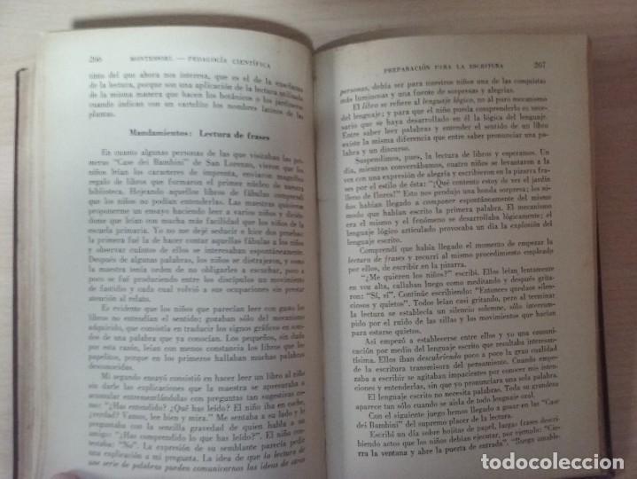 Libros antiguos: EL MÉTODO DE LA PEDAGOGÍA CIENTÍFICA (1937) - DOCTORA MARI MONTESSORIO - Foto 13 - 174025595