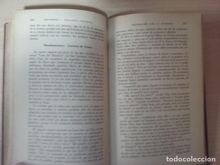 Libros antiguos: EL MÉTODO DE LA PEDAGOGÍA CIENTÍFICA (1937) - DOCTORA MARI MONTESSORIO - Foto 14 - 174025595