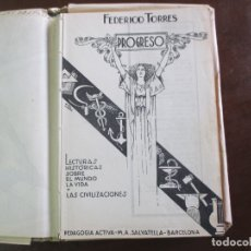Libros antiguos: PROGRESO. LIBRO ESCOLAR. 1935. AMV.. Lote 178612316