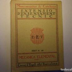 Libros antiguos: LIBRO GEOMETRIA. 1ª PARTE. EXTENSIÓ ENSENYAMENT TÈCNIC, MANCOMUNITAT DE CATALUNYA, AÑOS 30.. Lote 183430497