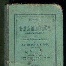 Libros antiguos: NUMULITE L1105 ELEMENTOS DE GRAMÁTICA CASTELLANA F. FERRUSOLA D. M. PUJOLAR FIGUERAS FIGUERES 1871. Lote 183556973
