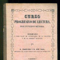 Libros antiguos: NUMULITE * CURSO PROGRESIVO DE LECTURA POR UN NUEVO MÉTODO D. FRANCISCO FIGUERAS FIGUERES 1850 T12. Lote 183557493