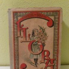 Libros antiguos: ANTIGUO LIBRO ESCOLAR FLORA LA EDUCACIÓN DE UNA NIÑA -PILAR PASCUAL S.XIX. Lote 183863897