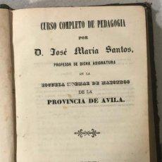 Libros antiguos: CURSO COMPLETO DE PEDAGOGÍA, ÁVILA. Lote 187120471