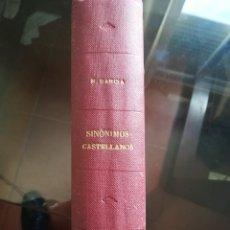 Libros antiguos: SINONIMOS CASTELLANOS 1870. Lote 187589866