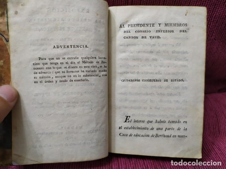Libros antiguos: 1807. Exposición del método elemental de Henrique Pestalozzi. Alex Chavannes. - Foto 2 - 188449793