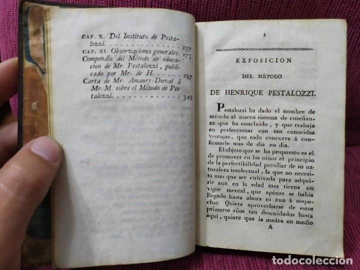 Libros antiguos: 1807. Exposición del método elemental de Henrique Pestalozzi. Alex Chavannes. - Foto 4 - 188449793