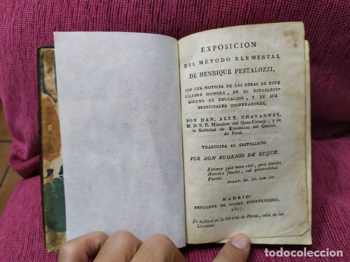 Libros antiguos: 1807. Exposición del método elemental de Henrique Pestalozzi. Alex Chavannes. - Foto 14 - 188449793
