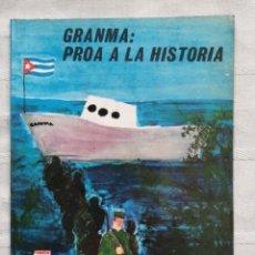 Libros antiguos: GRANMA PROA LA HISTORIA LA HABANA EDITORIAL GENTE NUEVA 1975 68 PP. LIBRO INFANTIL CON ILUSTRACIONES. Lote 189624985