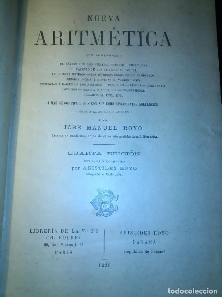 Libros antiguos: NUEVA ARITMETICA METÓDICA, de J.M Royo y Aristides Royo. 1928 - Foto 2 - 190340547