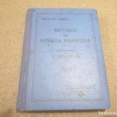 Libros antiguos: ANTIGUO LIBRO...METODO DE LENGUA FRANCESA ...HIJOS DE SANTIAGO RODRIGUEZ.....1933........ Lote 190815397
