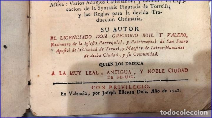 Libros antiguos: AÑO 1742. FRAGMENTOS GRAMATICALES. PERGAMINO ESPAÑOL. DEDICADO AL SENADO DE LA CIUDAD DE TERUEL. - Foto 3 - 193952612