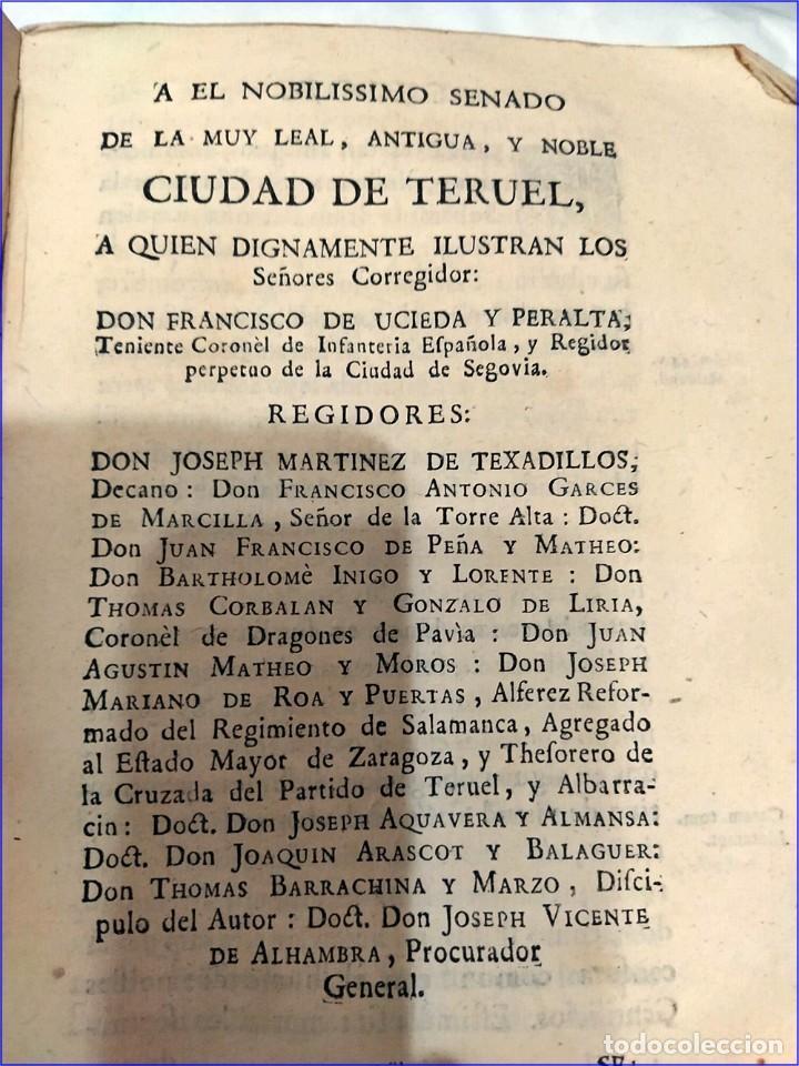 Libros antiguos: AÑO 1742. FRAGMENTOS GRAMATICALES. PERGAMINO ESPAÑOL. DEDICADO AL SENADO DE LA CIUDAD DE TERUEL. - Foto 5 - 193952612