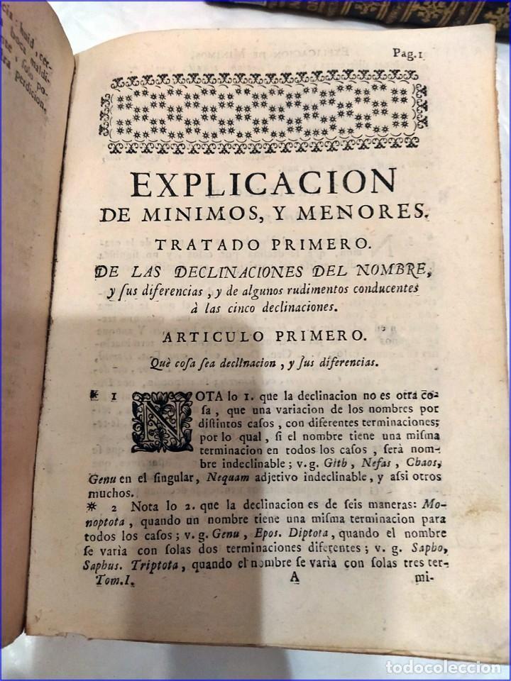 Libros antiguos: AÑO 1742. FRAGMENTOS GRAMATICALES. PERGAMINO ESPAÑOL. DEDICADO AL SENADO DE LA CIUDAD DE TERUEL. - Foto 6 - 193952612