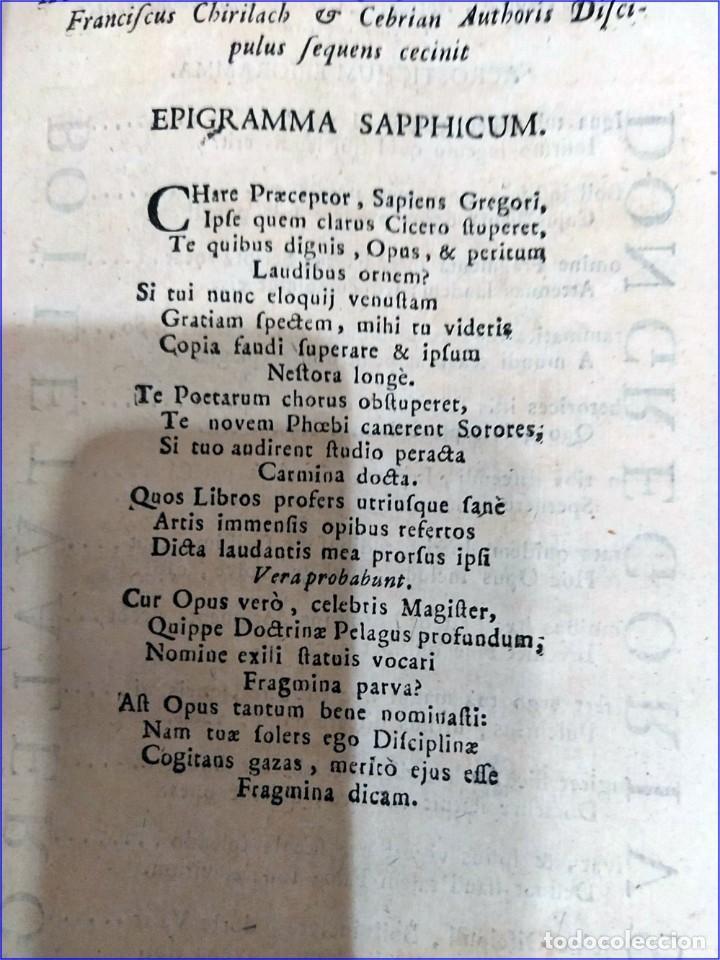 Libros antiguos: AÑO 1742. FRAGMENTOS GRAMATICALES. PERGAMINO ESPAÑOL. DEDICADO AL SENADO DE LA CIUDAD DE TERUEL. - Foto 7 - 193952612