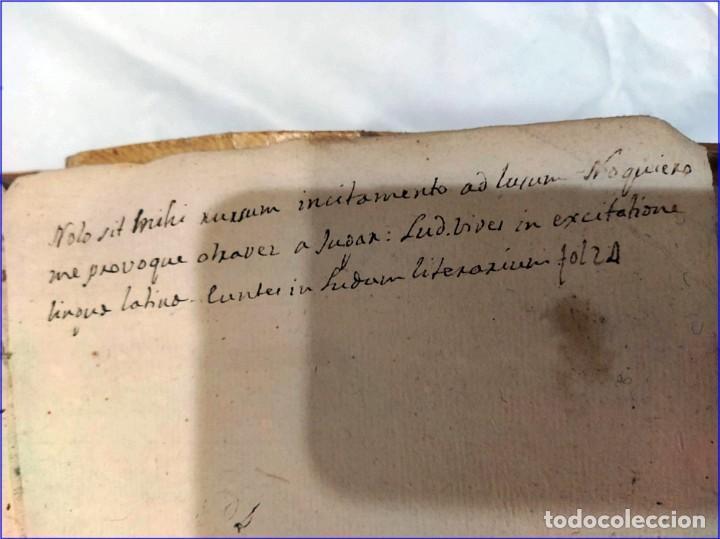 Libros antiguos: AÑO 1742. FRAGMENTOS GRAMATICALES. PERGAMINO ESPAÑOL. DEDICADO AL SENADO DE LA CIUDAD DE TERUEL. - Foto 12 - 193952612