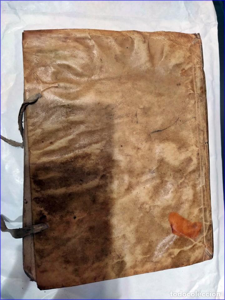 Libros antiguos: AÑO 1742. FRAGMENTOS GRAMATICALES. PERGAMINO ESPAÑOL. DEDICADO AL SENADO DE LA CIUDAD DE TERUEL. - Foto 16 - 193952612