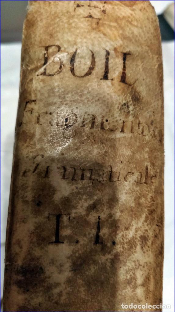 Libros antiguos: AÑO 1742. FRAGMENTOS GRAMATICALES. PERGAMINO ESPAÑOL. DEDICADO AL SENADO DE LA CIUDAD DE TERUEL. - Foto 18 - 193952612
