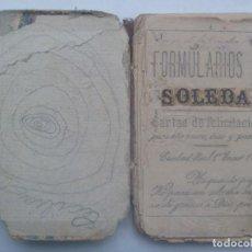 Libros antiguos: ANTIQUISIMO LIBRO ( Y HECHO POLVO ) DE CALIGRAFIA. CIUDAD REAL 1880. Lote 193981436