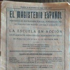 Libros antiguos: EL MAGISTERIO ESPAÑOL. REVISTA. MADRID, 15 OCTUBRE 1935. Lote 195407061