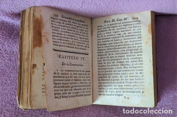 Libros antiguos: GRAMATICA DE LA LENGUA CASTELLANA, LA REAL ACADEMIA ESPAÑOLA 1796 - Foto 5 - 198620958