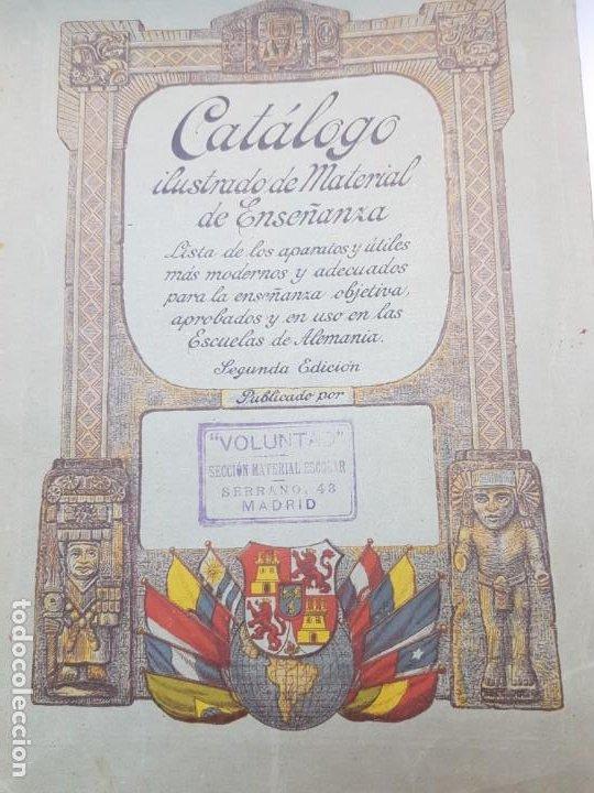 CATALOGO ILUSTRADO DE MATERIAL DE ENSEÑANZA EDITORIAL VOLUNTAD AÑO 1904 MUY DIFICIL (Libros Antiguos, Raros y Curiosos - Ciencias, Manuales y Oficios - Pedagogía)
