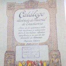 Libros antiguos: CATALOGO ILUSTRADO DE MATERIAL DE ENSEÑANZA EDITORIAL VOLUNTAD AÑO 1904 MUY DIFICIL. Lote 199132133