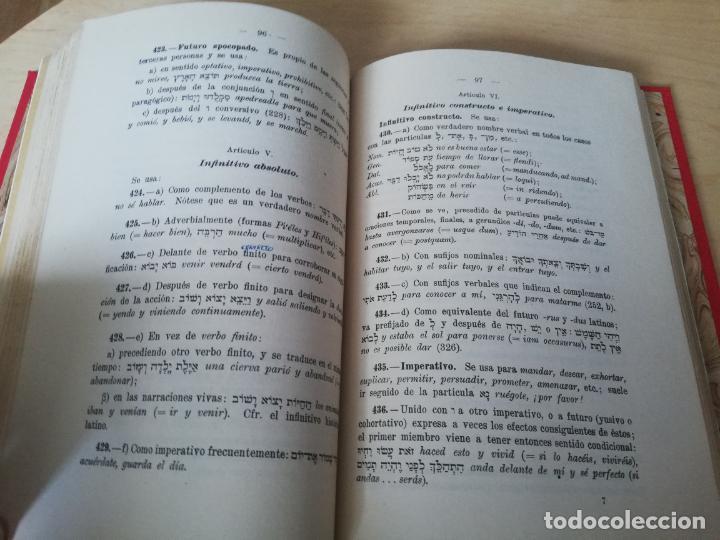 Libros antiguos: Antonio Ramirez. NOCIONES DE GRAMATICA HEBREA Y CRESTOMATÍA BIBLICA - Foto 6 - 199451247
