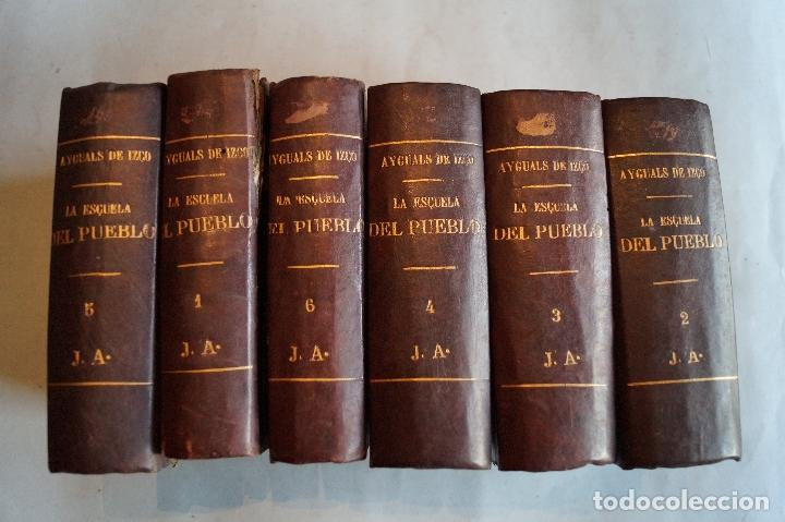 LA ESCUELA DEL PUEBLO. PÁGINAS DE ENSEÑANZA UNIVERSAL. WENCESLAO AYGUALS DE IZCO. 1852/53 (Libros Antiguos, Raros y Curiosos - Ciencias, Manuales y Oficios - Pedagogía)