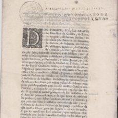 Libros antiguos: PRAGMÁTICA SOBRE MAESTROS DE PRIMERAS LETRAS. DIÓCESIS DE TOLEDO. 1740. Lote 199945653
