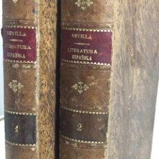 Libros antiguos: PRINCIPIOS DE LITERATURA GENERAL HISTORIA DE LA LITERATURA ESPAÑOLA 1897 REVILLA 2 TOMOS COMPLETA. Lote 201782831