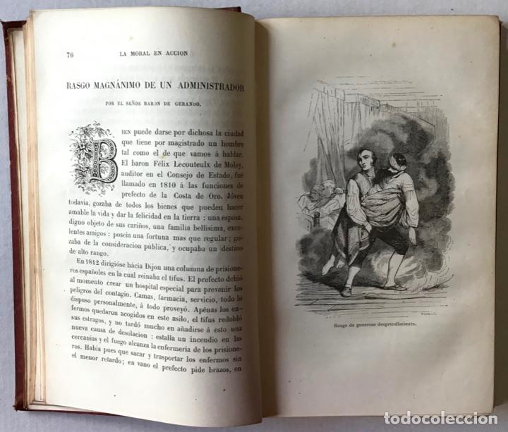 Libros antiguos: LOS BUENOS EJEMPLOS Ó LA MORAL EN ACCION. - DELESSERT, Benjamín de y GERANDO, barón de. - Foto 4 - 209098625