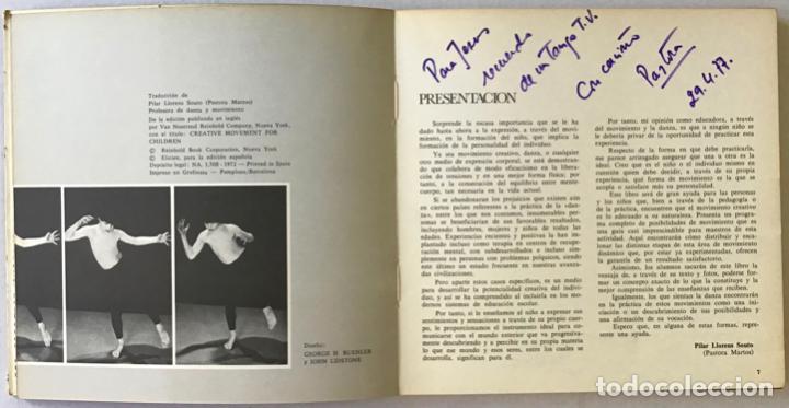 Libros antiguos: MOVIMIENTO CREATIVO PARA NIÑOS: UN PROGRAMA DE DANZA PARA LA CLASE. - WIENER, Jack, y LIDSTONE, John - Foto 3 - 123261054