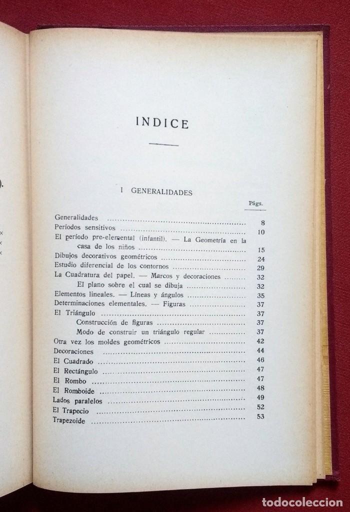 Libros antiguos: PSICO-GEOMETRIA - Dra. MONTESSORI - 1ª EDICION - 1934 - Foto 3 - 215780541