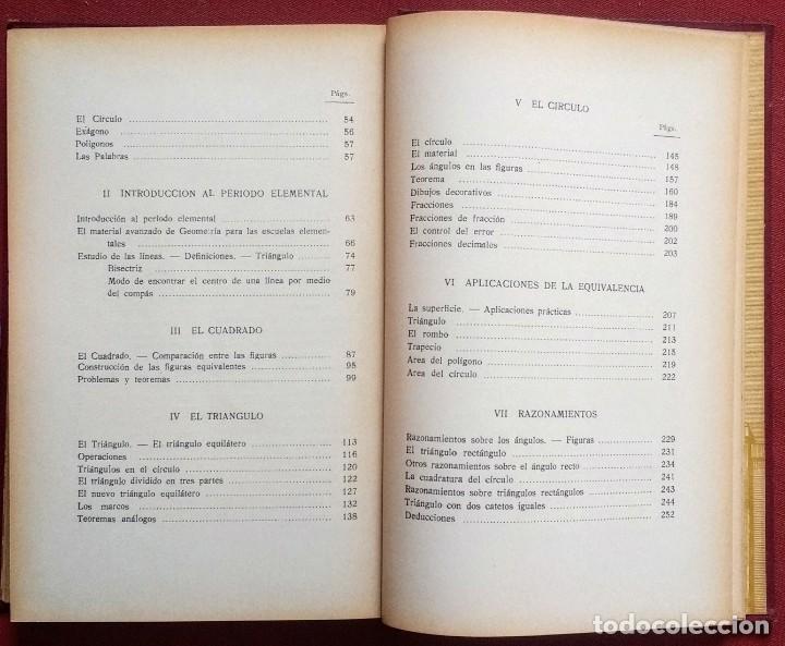 Libros antiguos: PSICO-GEOMETRIA - Dra. MONTESSORI - 1ª EDICION - 1934 - Foto 4 - 215780541
