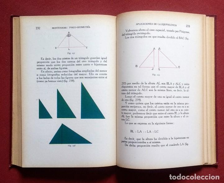 Libros antiguos: PSICO-GEOMETRIA - Dra. MONTESSORI - 1ª EDICION - 1934 - Foto 6 - 215780541