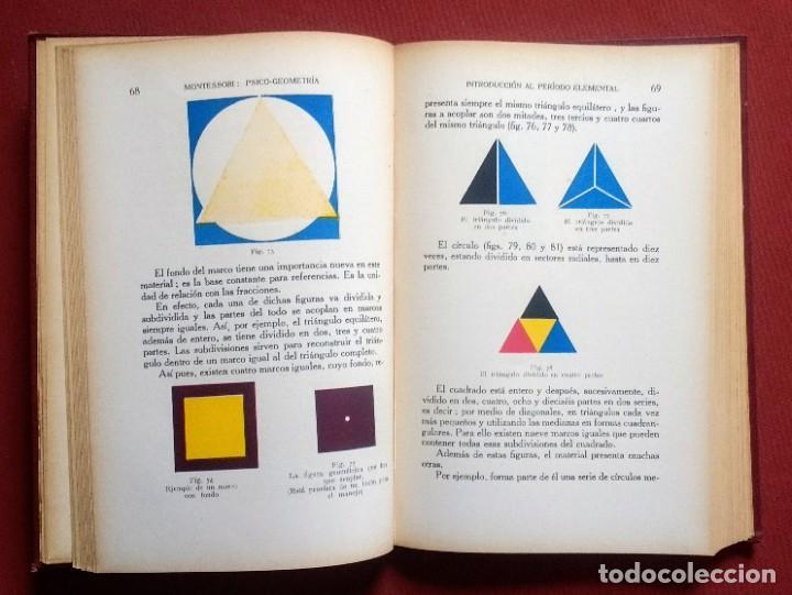Libros antiguos: PSICO-GEOMETRIA - Dra. MONTESSORI - 1ª EDICION - 1934 - Foto 7 - 215780541