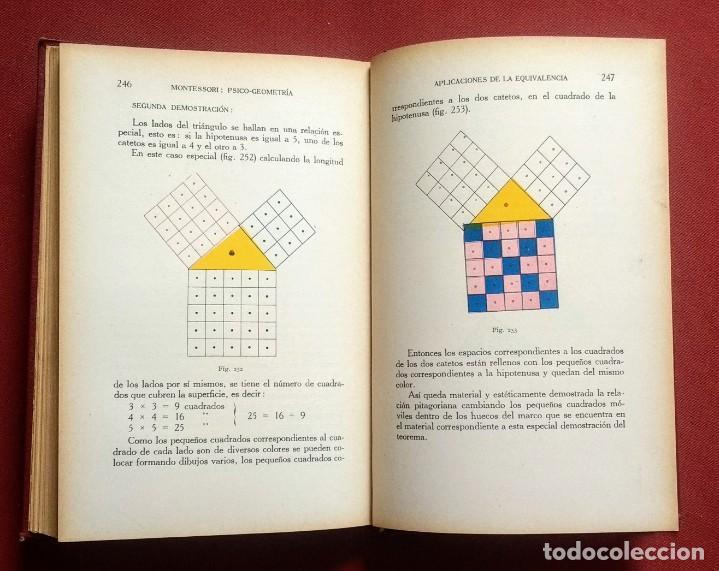 Libros antiguos: PSICO-GEOMETRIA - Dra. MONTESSORI - 1ª EDICION - 1934 - Foto 8 - 215780541