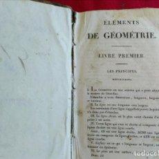 Libros antiguos: LIBRO ANTIGUO ÉLÉMENTS DE GÉOMÉTRIE. Lote 219602217