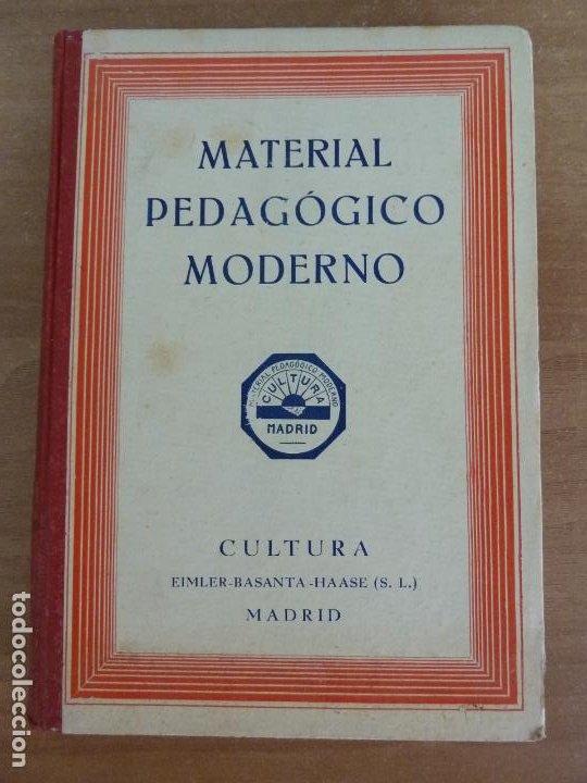 CATÁLOGO Nº 30. MATERIAL PEDAGÓGICO MODERNO. CULTURA MADRID 1934 (Libros Antiguos, Raros y Curiosos - Ciencias, Manuales y Oficios - Pedagogía)