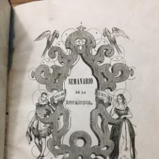 Libros antiguos: SEMANARIO DE LA INFANCIA. F. FERNANDEZ VILLABRILLE (1845). Lote 222396220