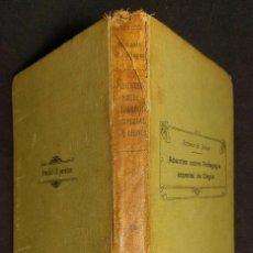 Libros antiguos: APUNTES SOBRE PEDAGOGÍA ESPECIAL DE CIEGOS RAFAELA R. PLACER. MADRID. COLEGIO SORDOMUDOS. 1929. Lote 222942611